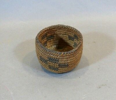 Antique Miniature Tight Little Native American Indian Basket