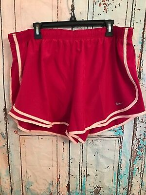 Womens NIKE DRI-FIT Tempo shorts PLUS Size 1x  Track running Plum/peach Color
