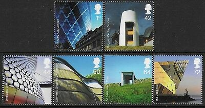 """GB. 2006. """"MODERN ARCHITECTURE"""". 1 SET OF 6 STAMPS. MNH. FV £3.39p."""