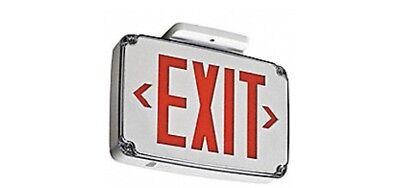 Lithonia Lighting WLTE GY 2 R Wet Location Res Letter Exit Sign NEW SHIPS FREE!!