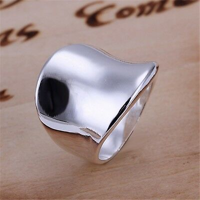 Silver Plated Ring Fashion Classic Thumb Jewelry Womens Ladies Accessories New