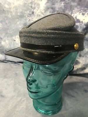 Civil War Hat Cap Confederate States Army Soldiers Field Gray Size 7 1/4