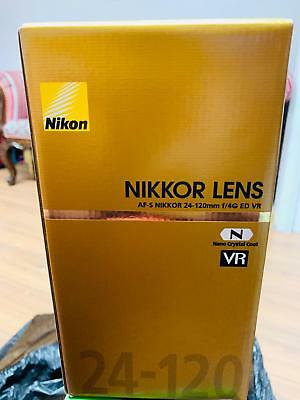 Brand New Nikon AF-S Nikkor 24-120mm F/4G ED VR Lens Uk Warranty