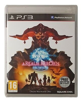 FINAL FANTASY XIV: A REALM REBORN (NEW & SEALED) (PS3 GAME) Playstation 3 A