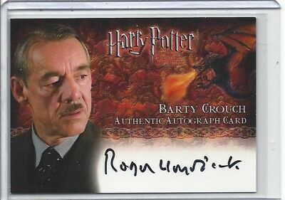 Harry Potter Character Autograph Roger Lloyd-Pack As Barty Crouch Goblet Of GOF