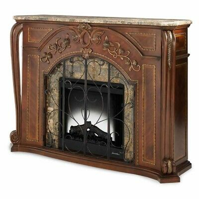 Aico Furniture Oppulente Fireplace W Marble Top And Electric