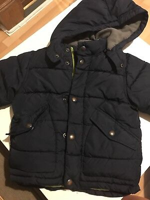 Gap Padded Jacket Coat Navy Age 2