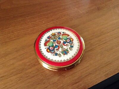 Beautiful Enamel painted compact made in Vienna