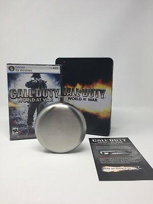 Call of Duty: World at War - Limited Collector's Edition- Flask, Tin  (PC, 2008)
