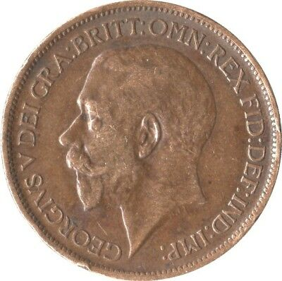 Uk Gb Half Penny 1923