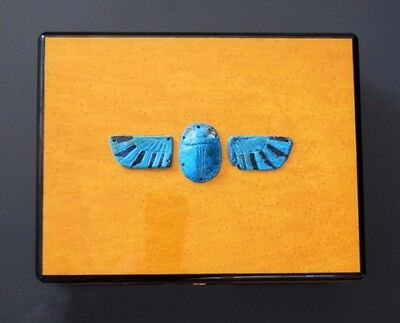Triade Birds-Eye Maple Humidor with Authentic Ancient Egyptian Scarab, Unique