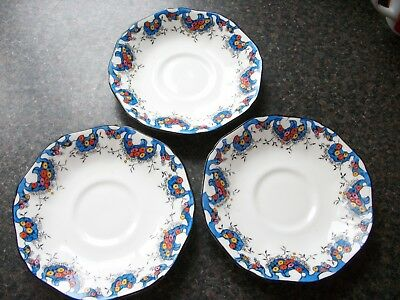 Art Deco Sutherland China Tea Trio Set, Beautiful Hand Painted Floral Design