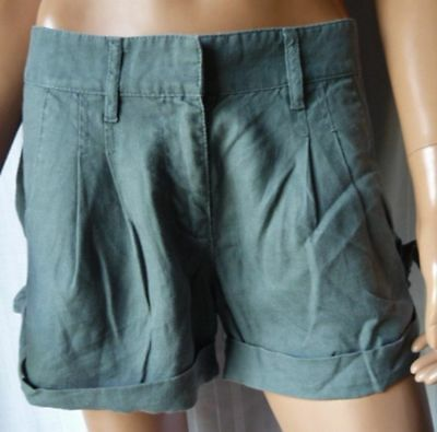 ***FRENCH CONNECTION PANTALONE CORTO Shorts TG.12 in Lino 100%