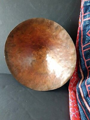 Old Hand Beaten Copper Bowl / Table Center Piece …beautiful accent / display pie
