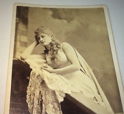 Rare Antique Famous Victorian American Actress Mary Anderson! NY Cabinet Photo!