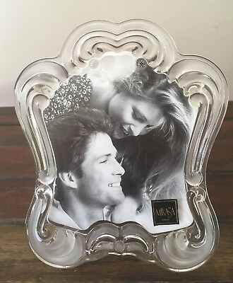 """MIKASA Crystal Glass Photo/ Picture Frame """"Juliet"""" Like New Condition"""