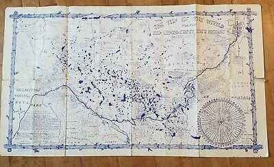 Top of the World Red Lodge Cooke City Highway Map Yellowstone Park 1953 Montana