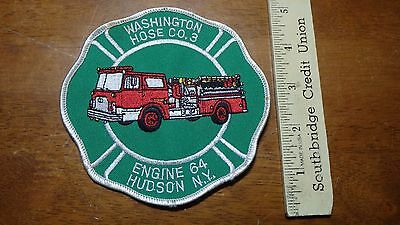 Vintage  Hudson Valley New York Hose Co 3 Engine 64 Department Patch   Bx 11 #26