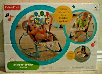 Fisher Price Infant To Toddler Portable Bouncer Rocker W/ Vib Y7872 Jungle Fun