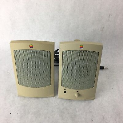 Apple Design Powered Speaker II  model M2497 Vintage 1993 Untested