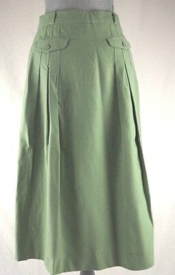 8620969581 AUTHENTIC VINTAGE CACHAREL Wool Green Pleated Skirt Size 42/10 ...