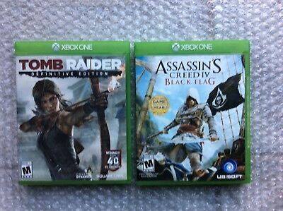 Xbox One Games Lot |2 Games| (Assassins creed bf/tomb raider)