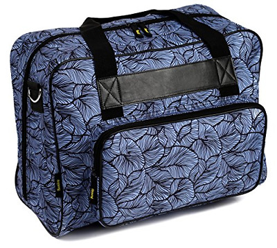 Kenley Sewing Machine Tote Bag - Padded Storage Cover Carrying Case with Pockets