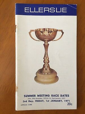 1971 Auckland Cup Meeting Race Book