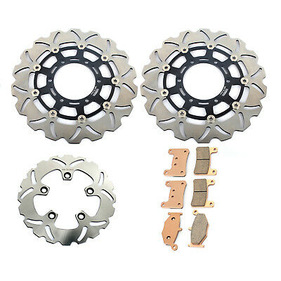 Front Rear Brake Discs Rotors Pads set for Suzuki GSXR600 GSX-R 750 2008-2010