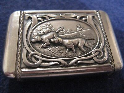 Bird/bird Hunting Dogs Match Safe....excellent Condition