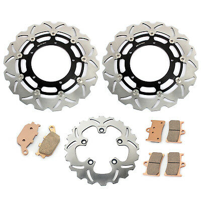 Front Rear Brake Discs Rotors and Pads set for Yamaha FZ1 FAZER 1000 2006-2014