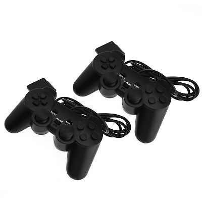 2 x Wire Controller Dual Shock Gamepad Console Joypad Game For PS2 PlayStation 2