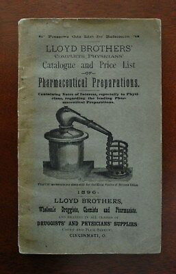Antique Pharmacy Medicine Lloyd Brothers Catalogue And Price List 1896