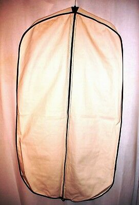 Cream Cotton Canvas Fabric LOT OF 2 Garment Clothes Carriers - Top Condition