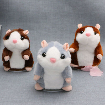 Talking Nod Hamster Mouse Record Chat Mimicry Pet Plush Toy Xmas Gift New