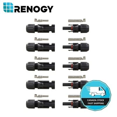 5 Pairs Renogy MC4 Connectors Solar Panel Female Male M/F Connector Hard Plastic