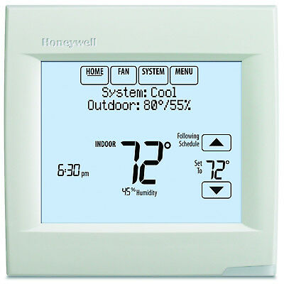 7 Day Programmable Thermostat Touchscreen 3H/2C Heating Cooling RedLINK Wireless