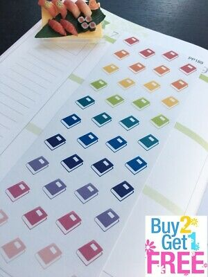 PP189 -- Small Book Icons Life Planner Stickers for Erin Condren (60pcs)