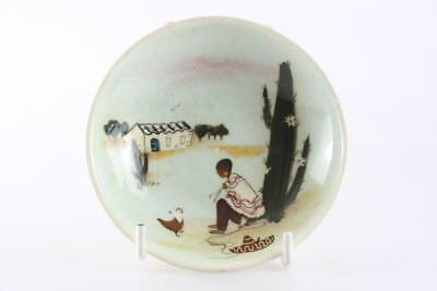 Martin Boyd Australia Pottery Hand Painted Mexican Scene Saucer Signed