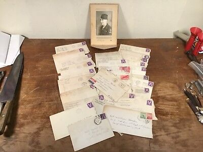 Vintage WW2 Letter Group To US Armor Division Soldier With Photo, NR