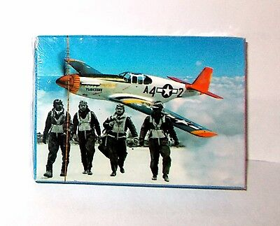 Tuskegee Airmen WW2 Air Force Red Tail Project Commemorative Playing Cards NEW