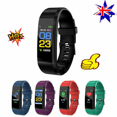 Fitness Activity Tracker Heart Rate Monitor Bracelet Pedometer Smart Watch DS