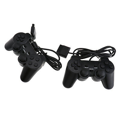 2Pcs Wired Controller Dual Shock Gamepad Console Game Joypad For PlayStation 2