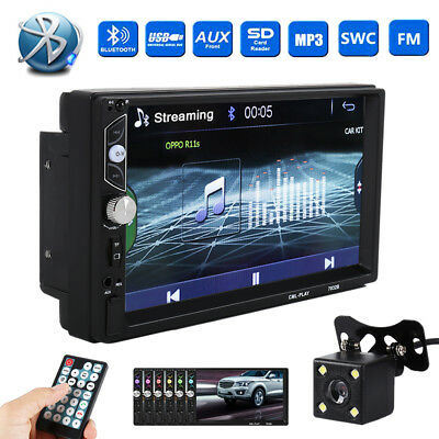 Bluetooth Car Stereo Radio FM Pleayer 7'' HD MP5 Touch Screen + Free Camera