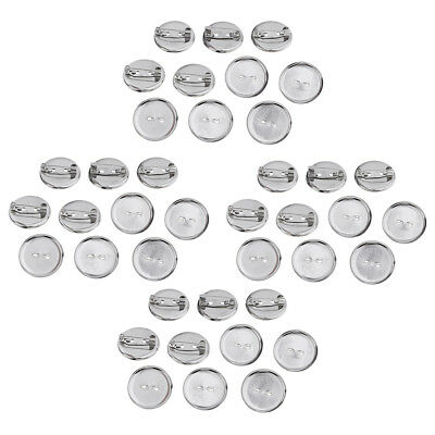 40 Pcs Brooch Blank Lapel Pin Badge Base Pin-Back Button Base 23MM