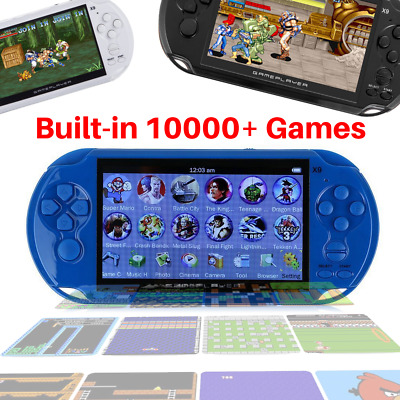 32Bit 8GB Handheld 5.1'' MP3 Player Video Game Console Built-in 10000 Games Gift