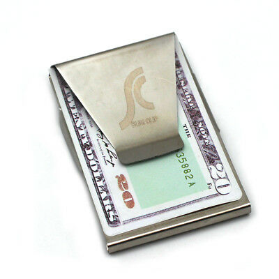 Hot Newest Slim Steel Money Clip Double Sided Credit Card Holder Wallet GA