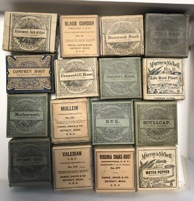 Vintage Pharmacy Herbal Medicine Apothecary Lot of 16