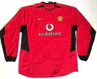 ce1a98f6a 2002-2003 Manchester United Manutd Jersey Home Vodafone Long Sleeve Nike  Men XL