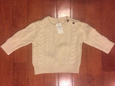c34285df8c94 BABY GAP IVORY (French Vanilla) Cable Knit Sweater One Piece 12-18M ...